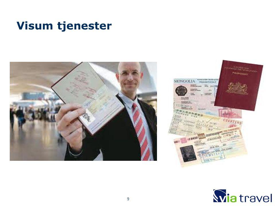 9 Visum tjenester