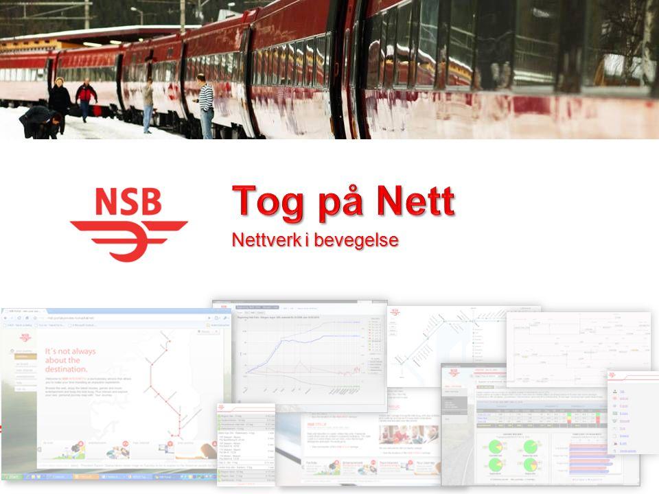 Tog på Nett prosjektet Standardisert digital infrastruktur i NSB Offisielt startet i 2007 med den hensikt å lage en pilot for Internett og underholdning om bord på lengre togreiser.