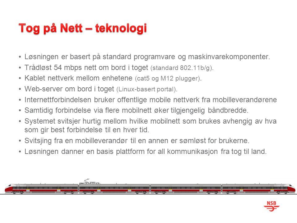 Forskjellig systemer om bord kan kommunisere med sentrale systemer via standard Internett- protokoller.