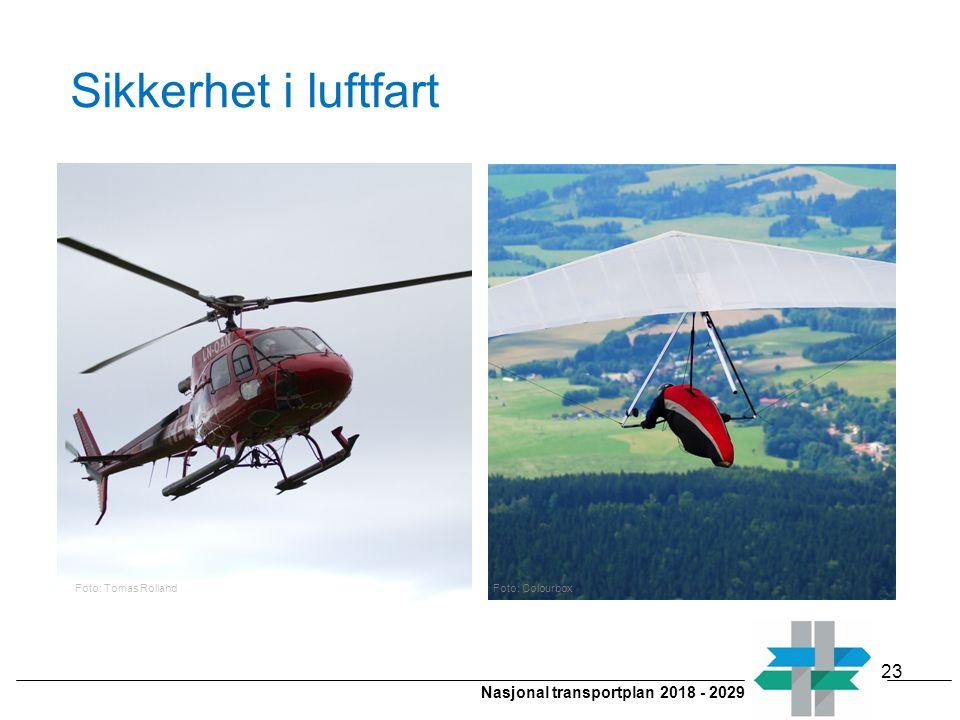 Nasjonal transportplan 2018 - 2029 Sikkerhet i luftfart 23 Foto: Tomas RollandFoto: Colourbox
