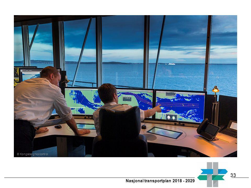 Nasjonal transportplan 2018 - 2029 © Kongsberg Norcontrol 33