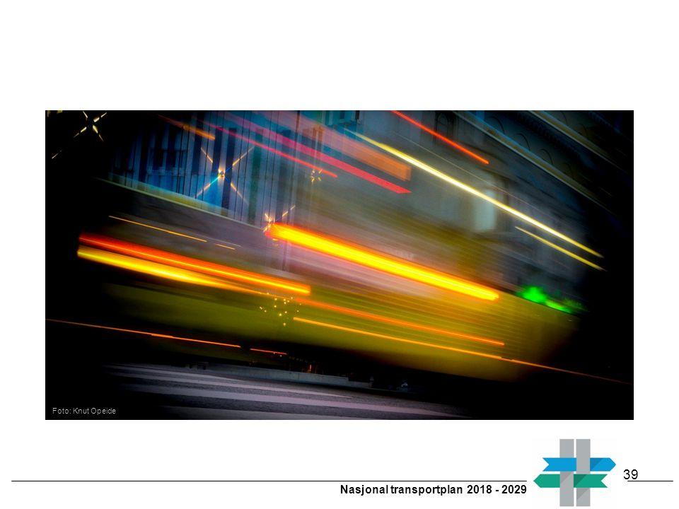 Nasjonal transportplan 2018 - 2029 Foto: Knut Opeide 39