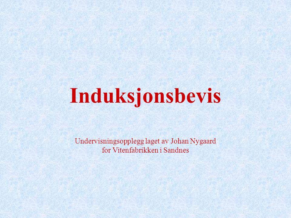 Undervisningsopplegg laget av Johan Nygaard for Vitenfabrikken i Sandnes Induksjonsbevis