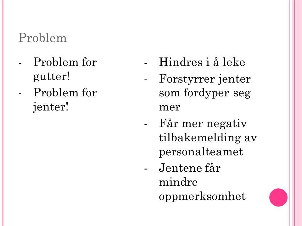 Problem -Problem for gutter. -Problem for jenter.