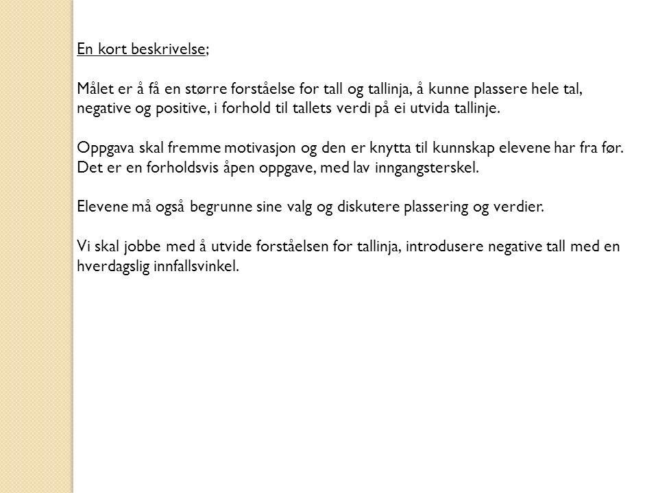 Oppgave: Forberedelse; Lapper med kaldeste temperatur i Oslo hver måned det siste året (Info finnes på Yr.no).