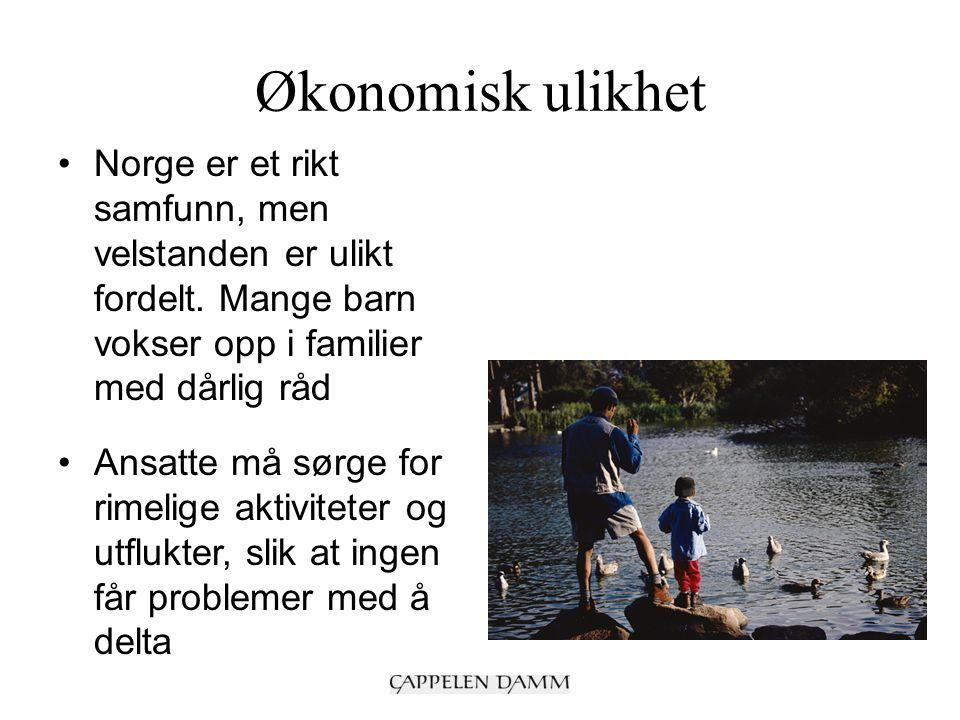 Økonomisk ulikhet Norge er et rikt samfunn, men velstanden er ulikt fordelt.