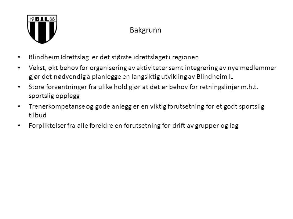 Bakgrunn Blindheim Idrettslag er det største idrettslaget i regionen Vekst, økt behov for organisering av aktiviteter samt integrering av nye medlemme