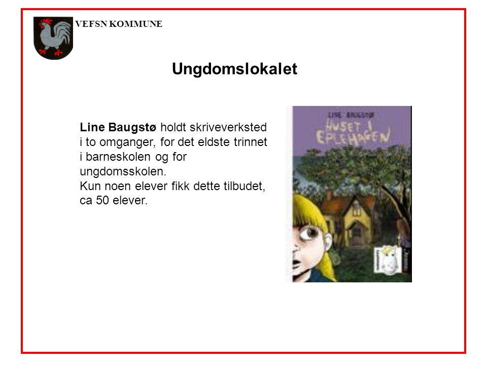 VEFSN KOMMUNE Ungdomslokalet Line Baugstø holdt skriveverksted i to omganger, for det eldste trinnet i barneskolen og for ungdomsskolen.