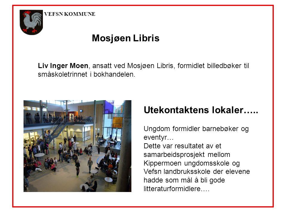 VEFSN KOMMUNE Mosjøen Libris Liv Inger Moen, ansatt ved Mosjøen Libris, formidlet billedbøker til småskoletrinnet i bokhandelen.