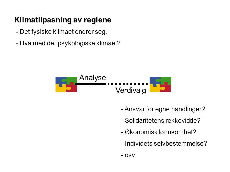 Analyse Verdivalg - Ansvar for egne handlinger. - Solidaritetens rekkevidde.