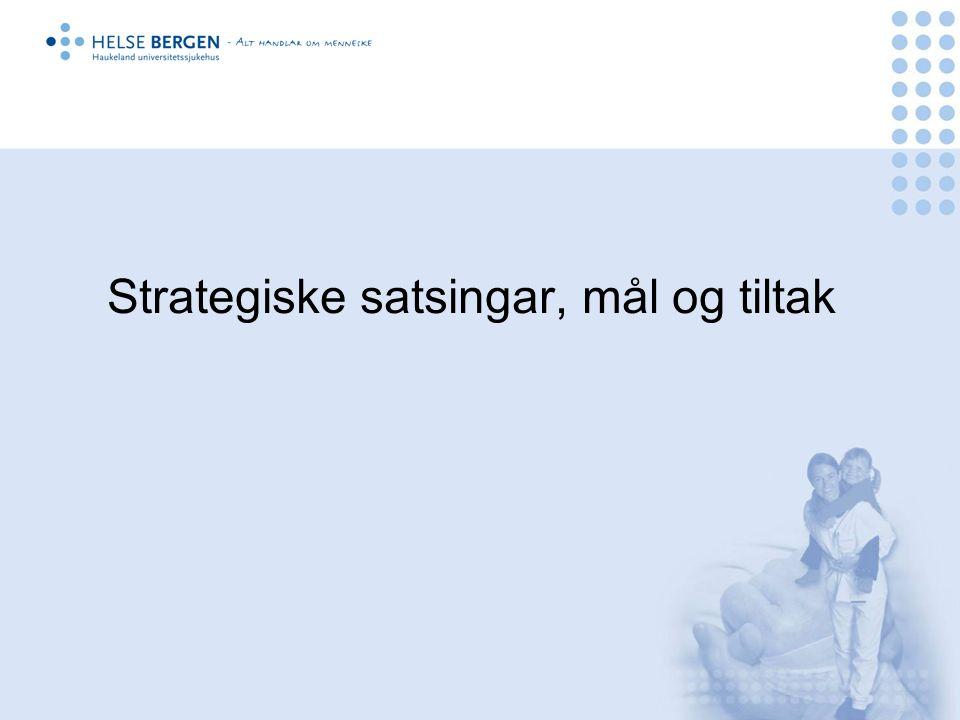 Strategiske satsingar, mål og tiltak