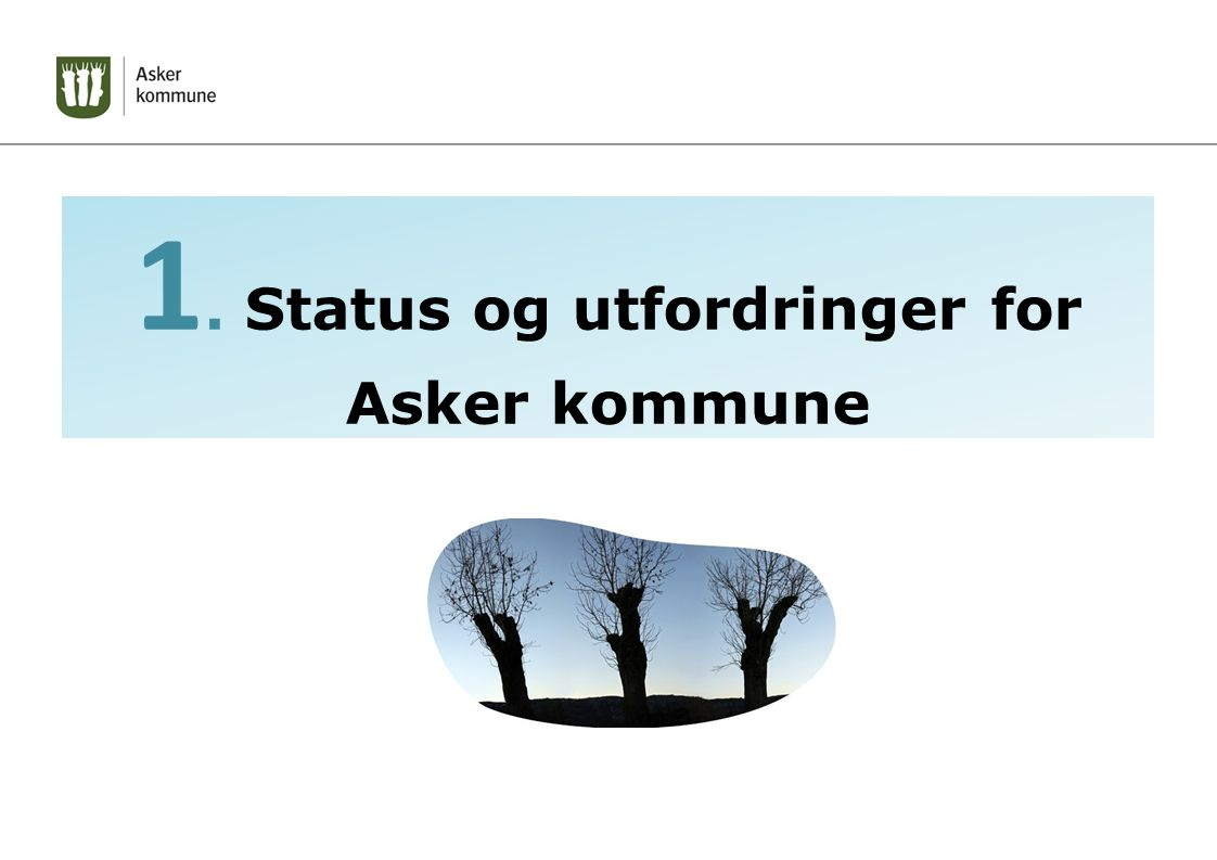 1. Status og utfordringer for Asker kommune