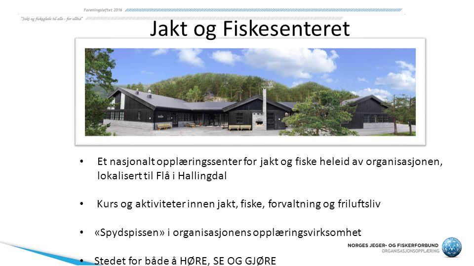 Et nasjonalt opplæringssenter for jakt og fiske heleid av organisasjonen, lokalisert til Flå i Hallingdal Kurs og aktiviteter innen jakt, fiske, forva