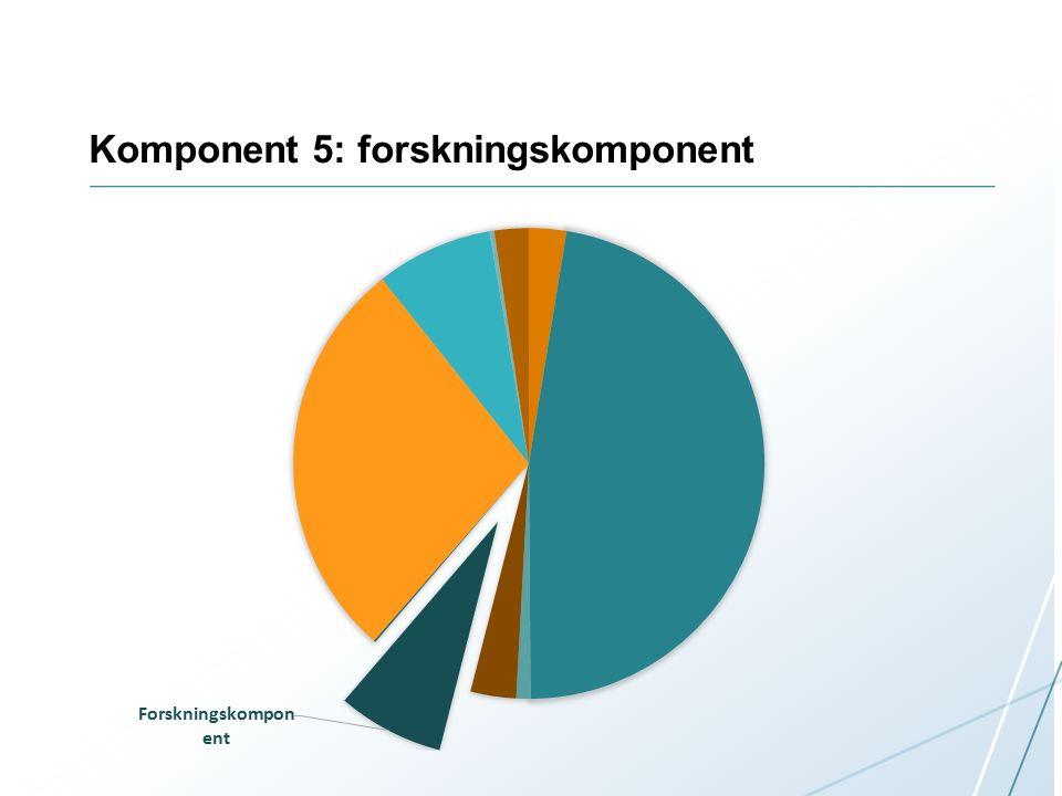 Komponent 5: forskningskomponent