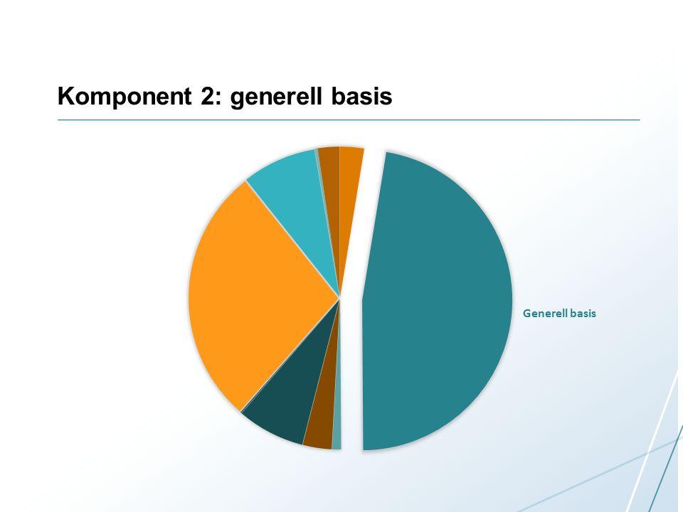 Komponent 2: generell basis