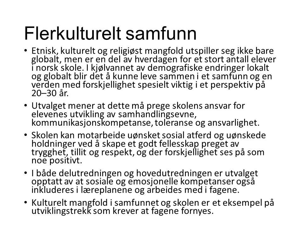 Flerkulturelt samfunn Etnisk, kulturelt og religiøst mangfold utspiller seg ikke bare globalt, men er en del av hverdagen for et stort antall elever i norsk skole.