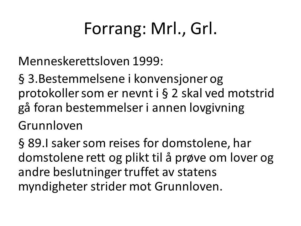 Forrang: Mrl., Grl.