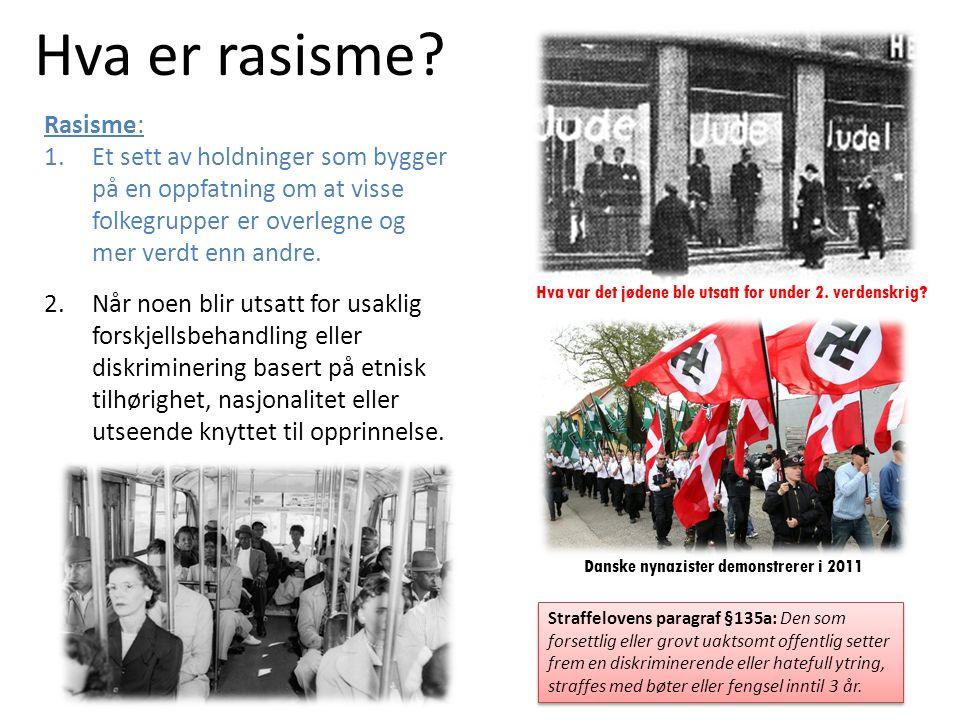 Hva er rasisme.