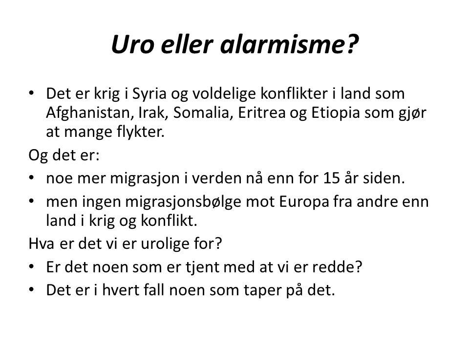Fem store utfordringer for migranter 1.Det gjenomgående negative synet på migrasjon - og dermed migranter.