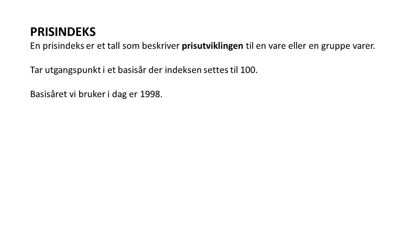PRISINDEKS Kroneisen kostet en krone i perioden 1954-1970.