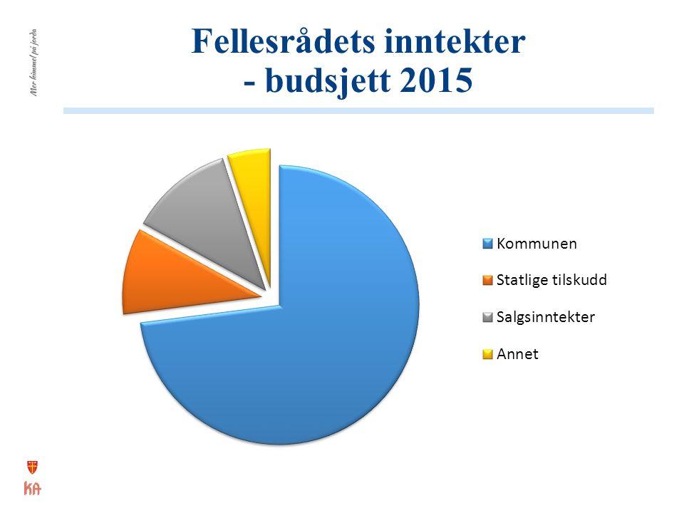 Fellesrådets inntekter - budsjett 2015