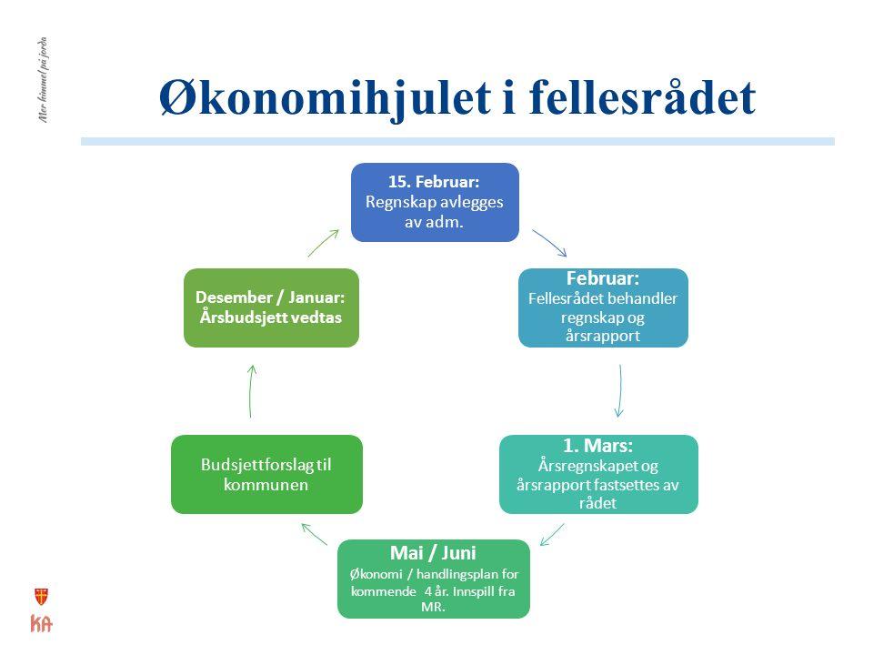 Økonomihjulet i fellesrådet 15. Februar: Regnskap avlegges av adm.