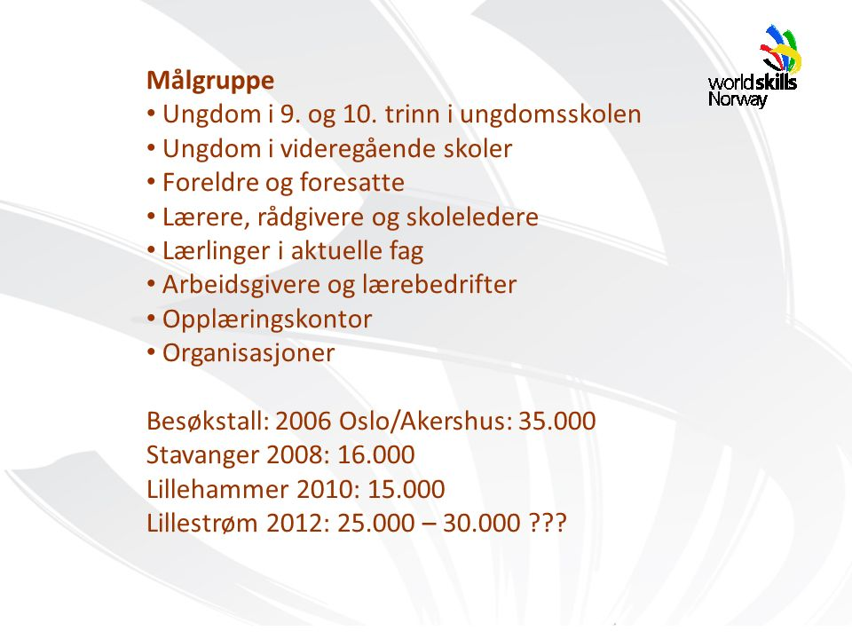 Målgruppe Ungdom i 9. og 10.