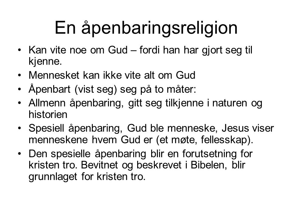 Kristendommens midtpunkt Menneske og Gud Krd.
