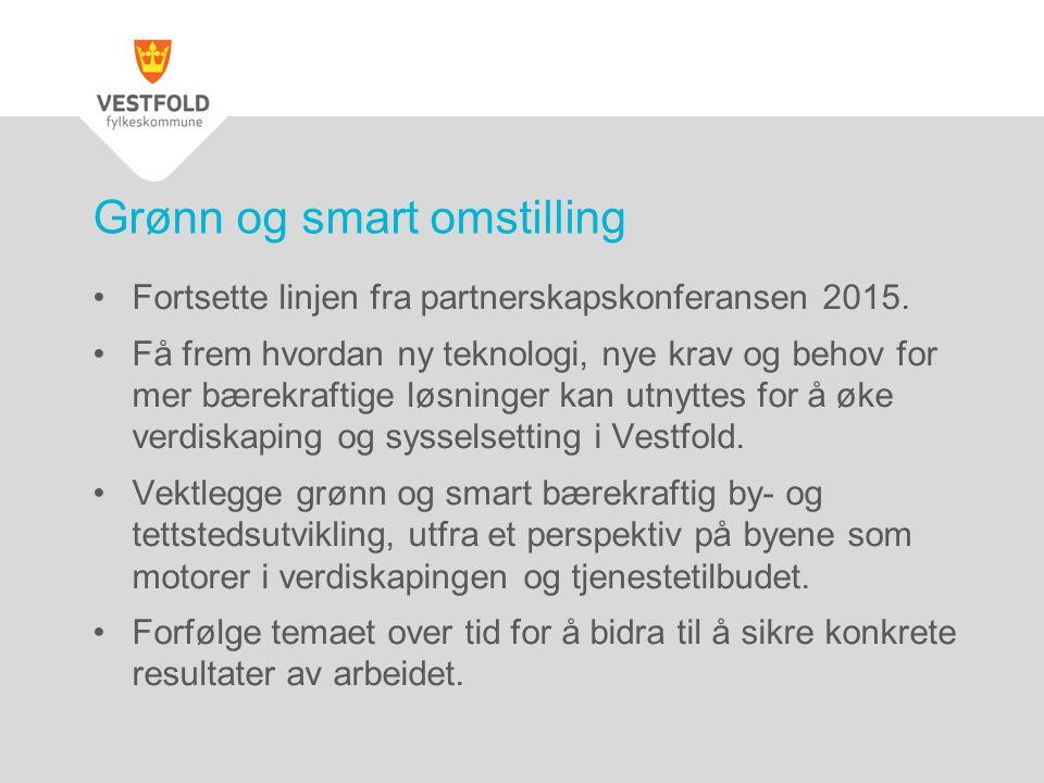 Fortsette linjen fra partnerskapskonferansen 2015. Få frem hvordan ny teknologi, nye krav og behov for mer bærekraftige løsninger kan utnyttes for å ø