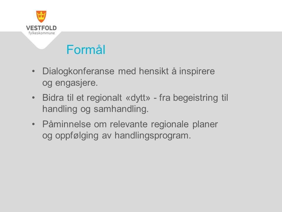 Dialogkonferanse med hensikt å inspirere og engasjere.
