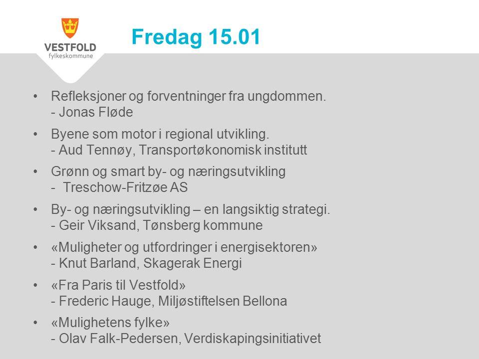 Refleksjoner og forventninger fra ungdommen. - Jonas Fløde Byene som motor i regional utvikling.
