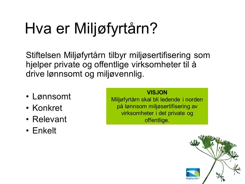 Sertifiseringssystemer Internasjonalt: NS-EN ISO 14001:2004 Europa: EMAS Norge: Miljøfyrtårn