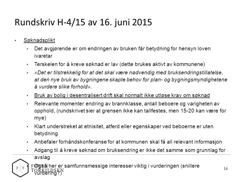 Rundskriv H-4/15 av 16.
