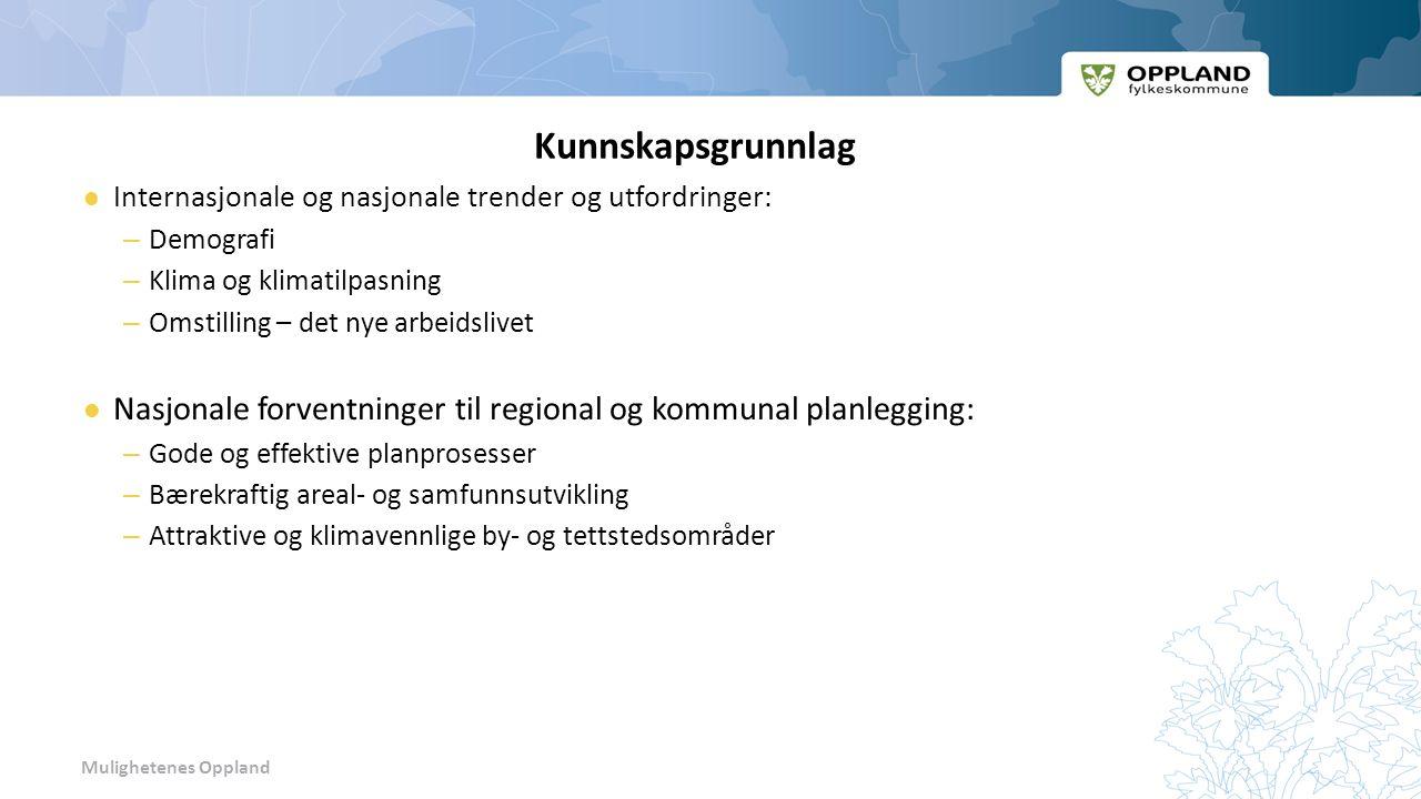 Mulighetenes Oppland Noen fakta fra fylkesstatistikk for Oppland