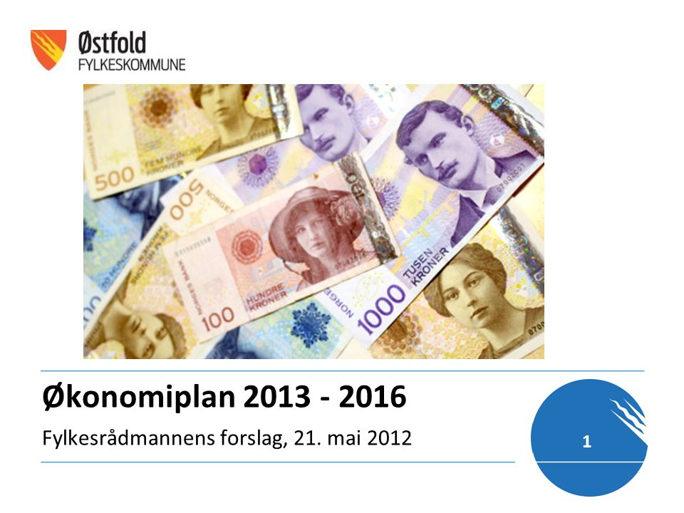 Økonomiplan 2013 - 2016 Fylkesrådmannens forslag, 21. mai 2012 1