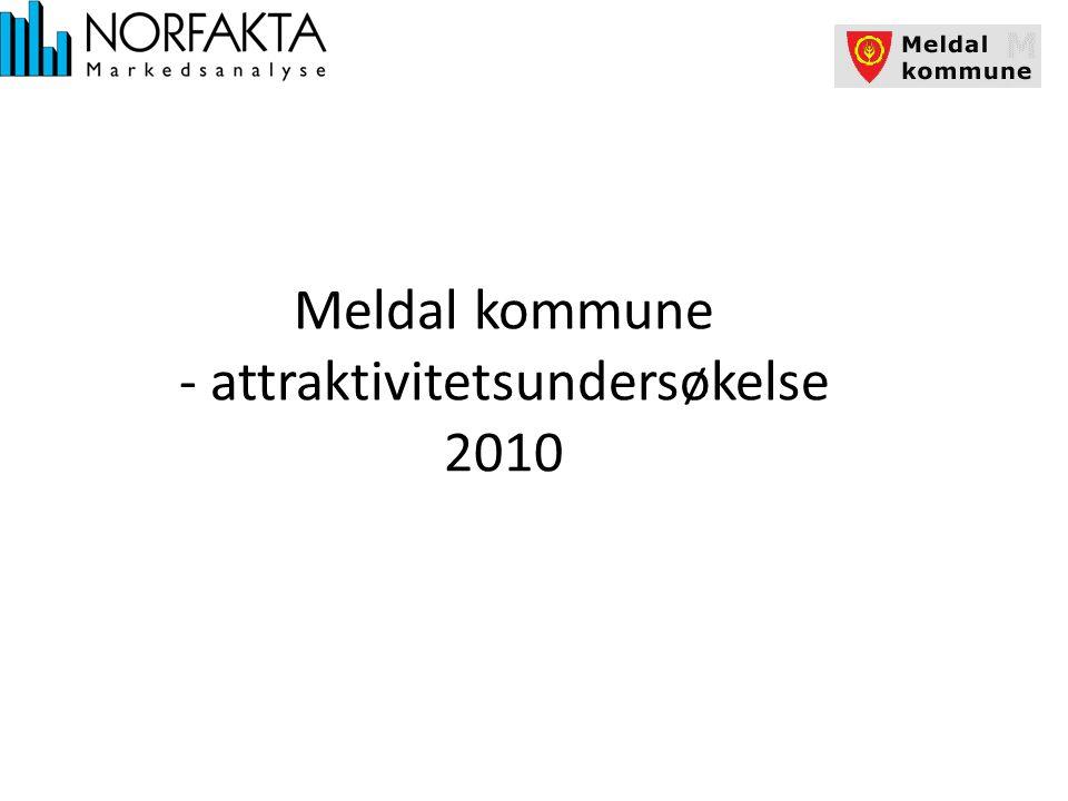 Attraktivitetsundersøkelse 2010 Metode og gjennomføring All intervjuing er foregått pr.