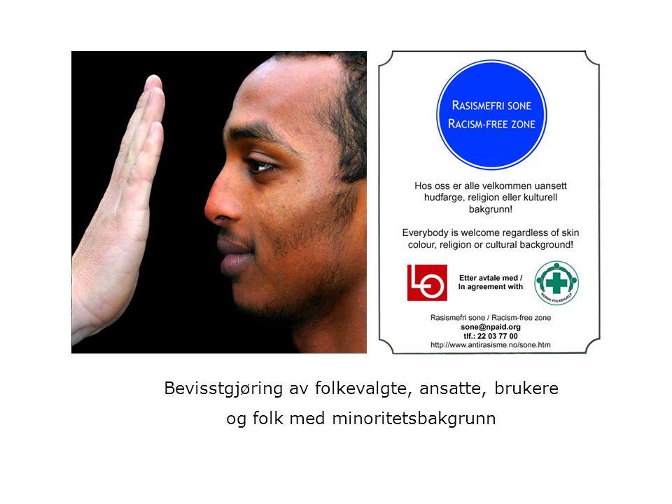 Bevisstgjøring av folkevalgte, ansatte, brukere og folk med minoritetsbakgrunn
