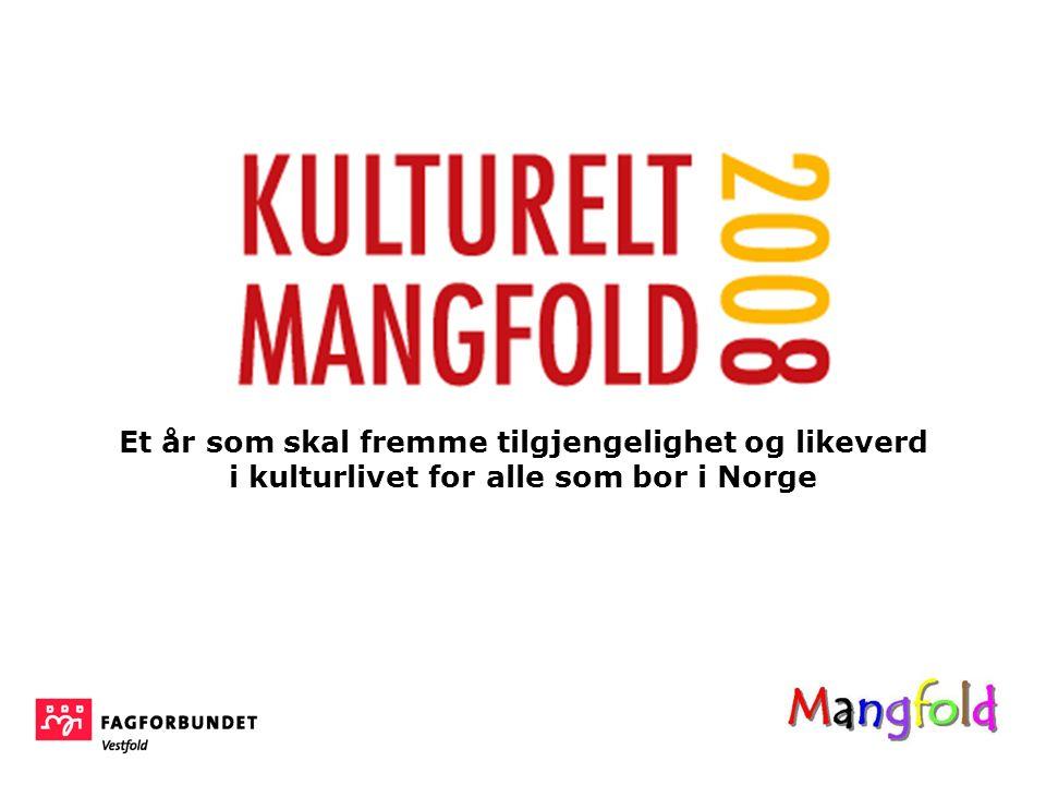Et år som skal fremme tilgjengelighet og likeverd i kulturlivet for alle som bor i Norge