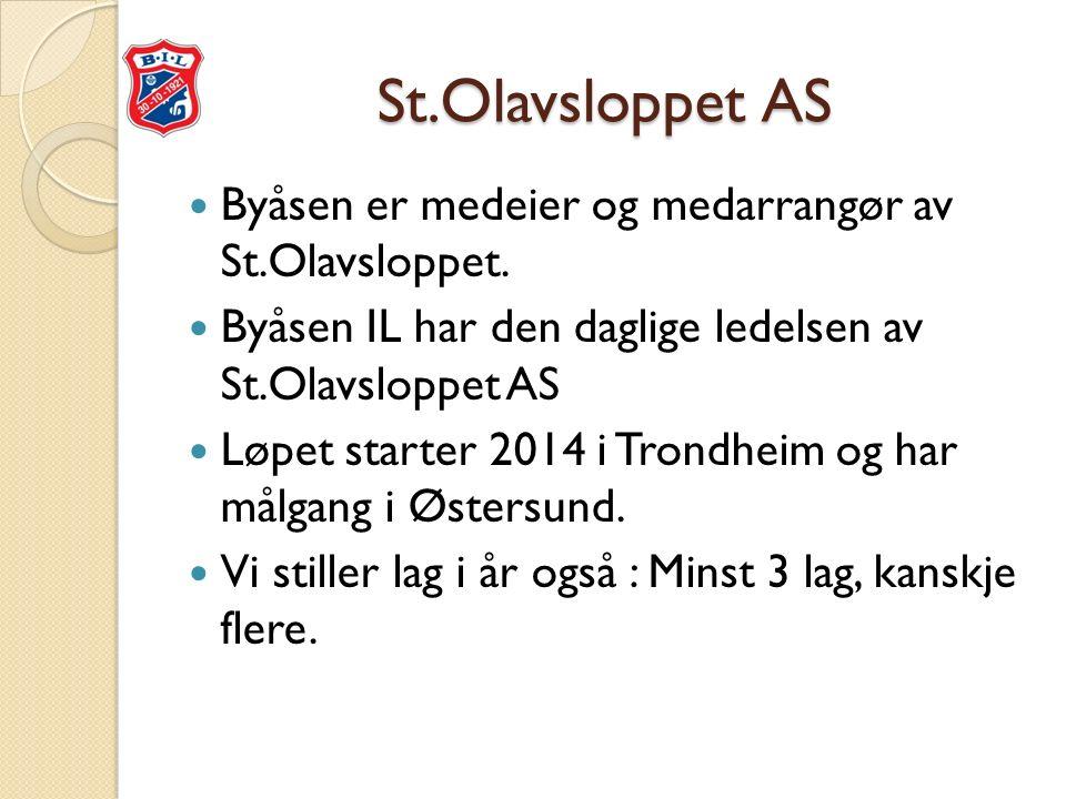 St.Olavsloppet AS Byåsen er medeier og medarrangør av St.Olavsloppet.
