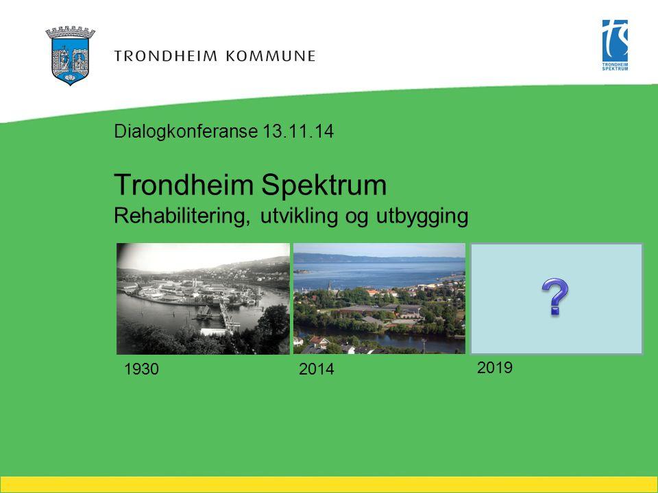 Trondheim Spektrum Rehabilitering, utvikling og utbygging Dialogkonferanse 13.11.14 1930 2014 2019