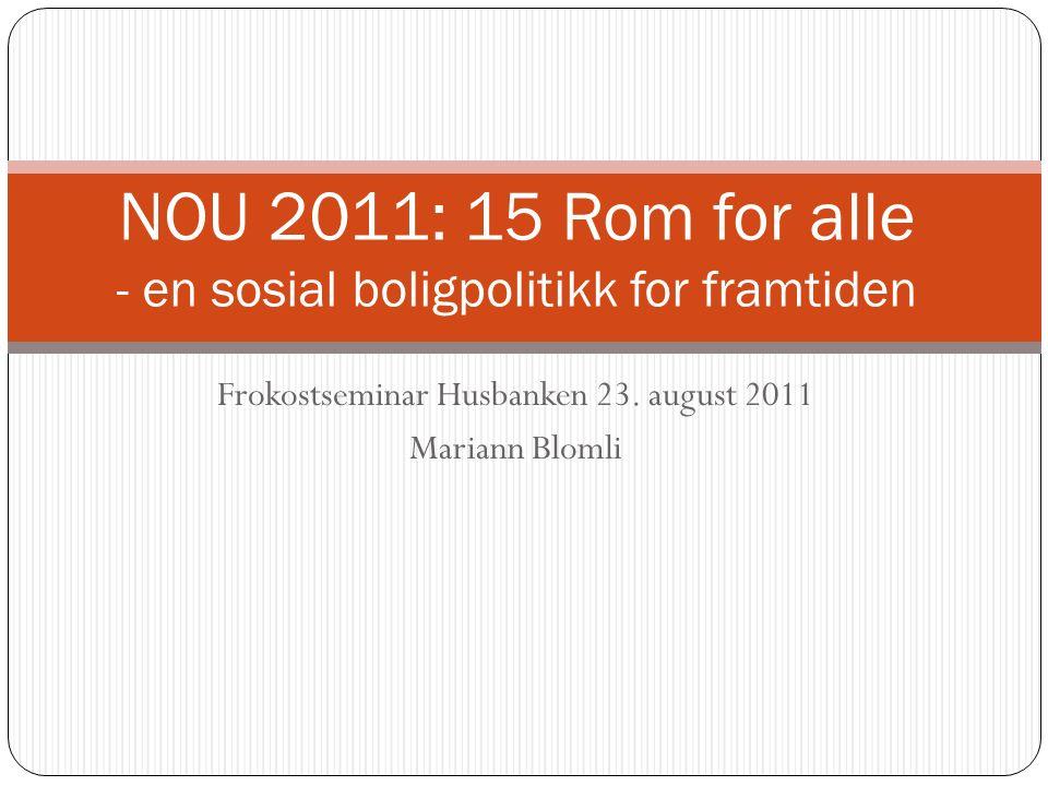 Frokostseminar Husbanken 23.