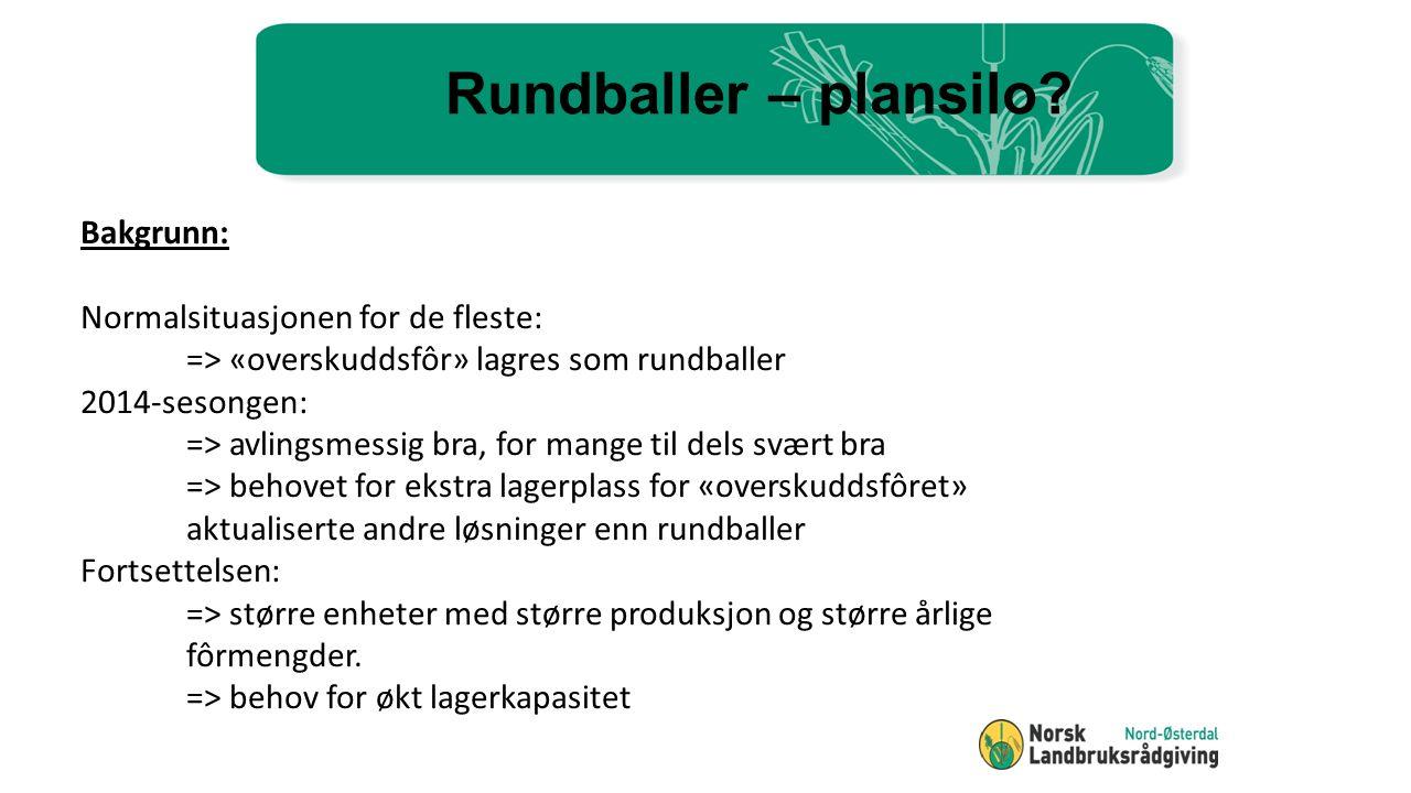 Eksempel på alternative løsninger for grashøsting 1.
