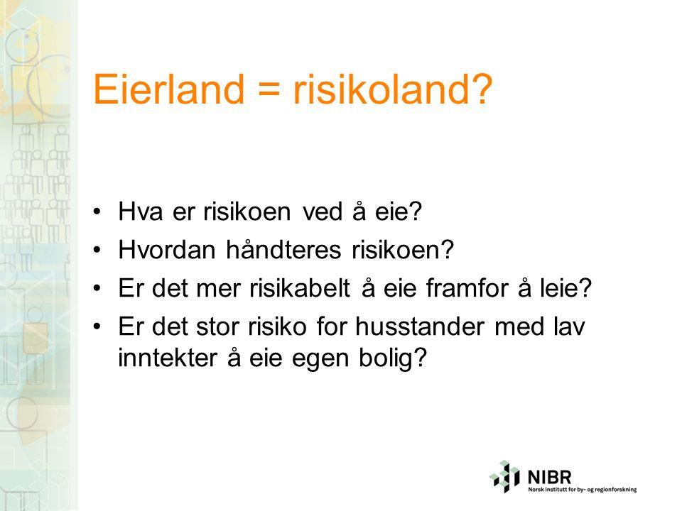 Eierland = risikoland. Hva er risikoen ved å eie.