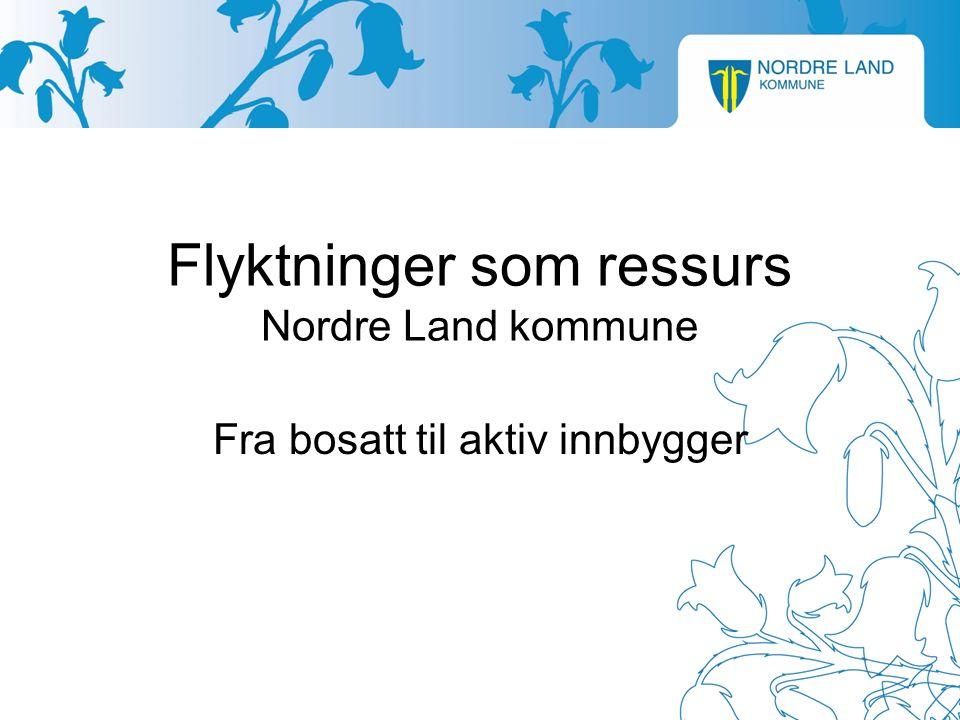 Flyktninger som ressurs Nordre Land kommune Fra bosatt til aktiv innbygger