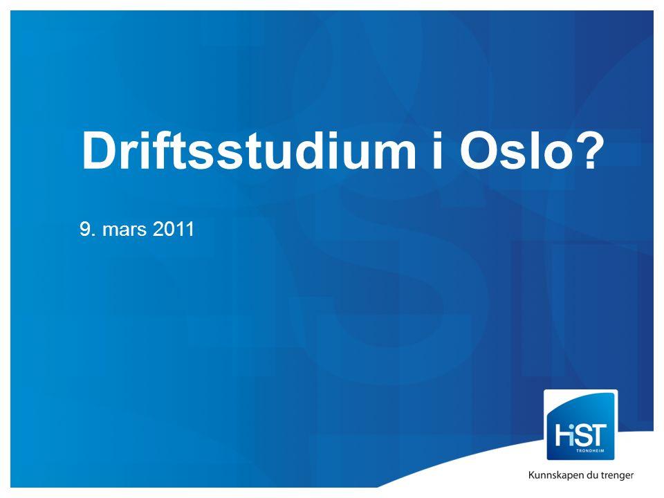 Driftsstudium i Oslo 9. mars 2011