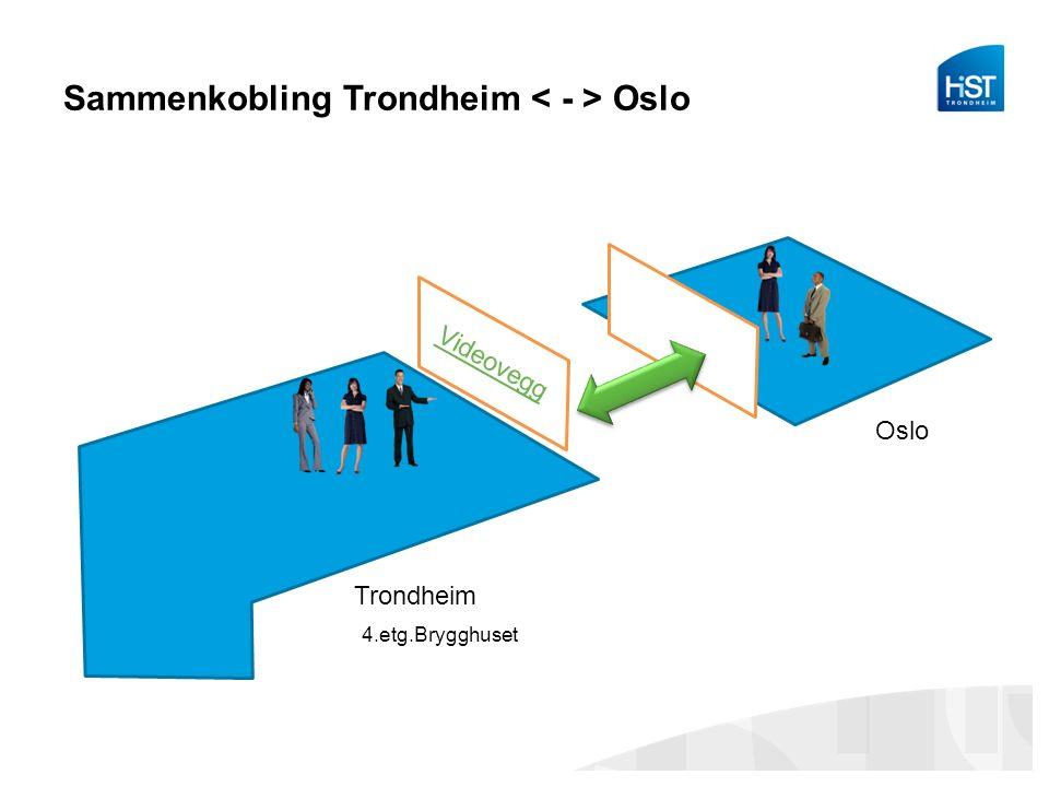 Sammenkobling Trondheim Oslo Oslo Trondheim Videovegg 4.etg.Brygghuset