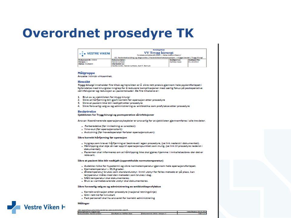 Overordnet prosedyre TK