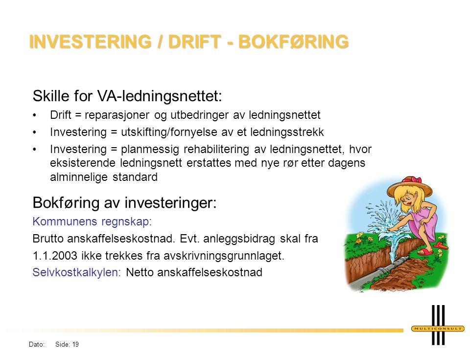 Dato: Side: 18 DEFINISJONER Definisjon av investeringer iht.