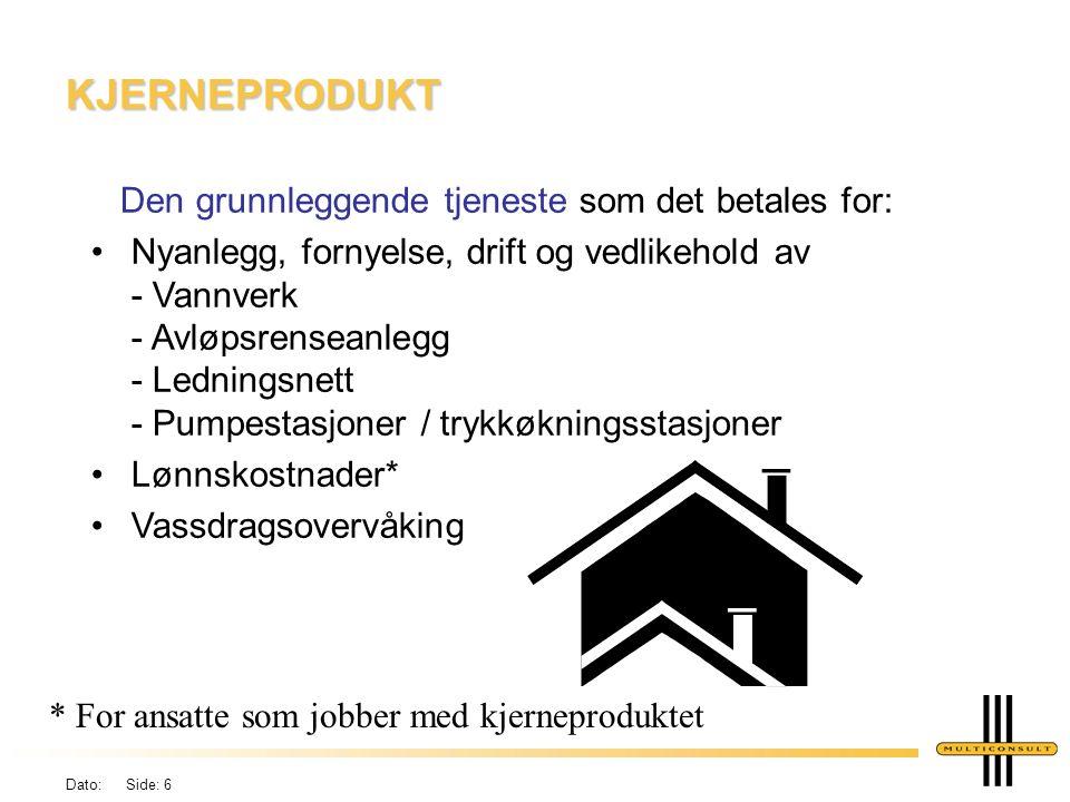 Dato: Side: 5 KOSTNADSELEMENTER Kommunen skal benytte: Retningslinjer for beregning av selvkost for kommunale betalingstjenester, KAD, jan.