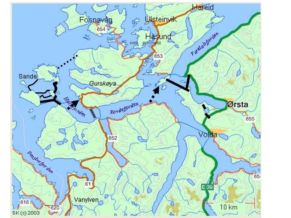 Fjordkryssing Etter sambandet vil det verte lettare å få til ei fjordkryssing.
